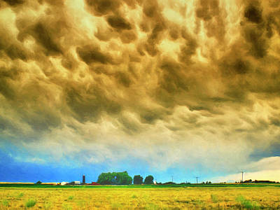 Autumn Storm Clouds Poster by Dominic Piperata