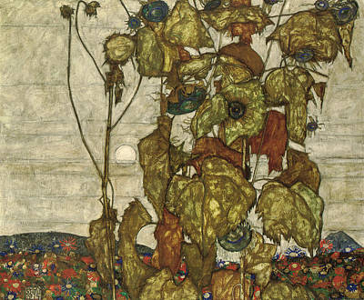 Autumn Sun Poster by Egon Schiele