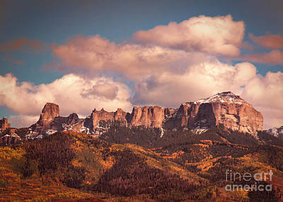 Autumn Uncompahgre Peaks Poster by Janice Rae Pariza