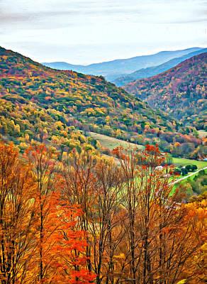 Autumn Valley - Paint Poster by Steve Harrington