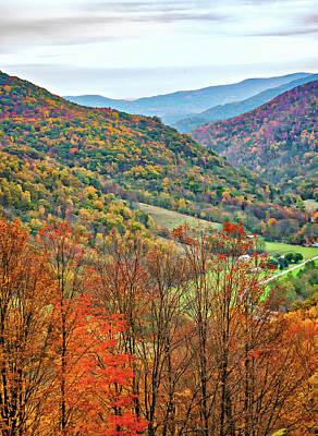 Autumn Valley Poster by Steve Harrington