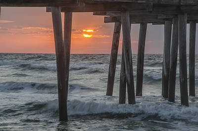 Avalon - Sunrise At The 32nd Street Pier Poster by Bill Cannon