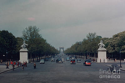 Avenue Des Champs Elysees Poster by Oleg Konin