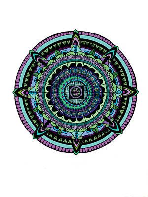 Azteca Poster by Elizabeth Davis
