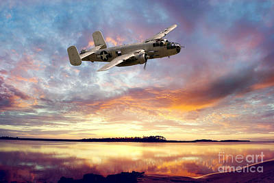 B25 Mitchell Poster by Stephen Smith