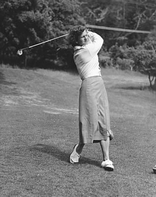 Babe Didrikson Golfing Poster by Julian Graham