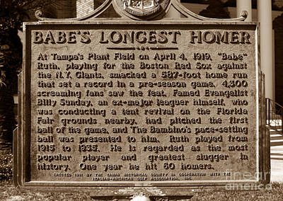Babes Longest Homer Poster by David Lee Thompson