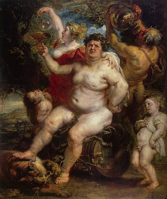 Bacchus Poster by Peter Paul Rubens