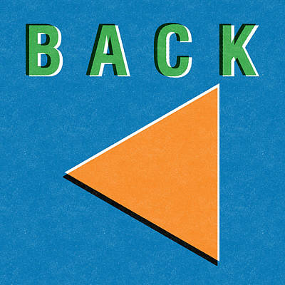 Back Button Poster by Linda Woods