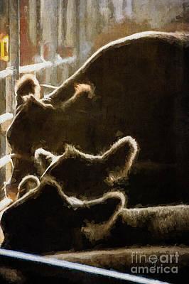 Backlit Bovine Poster by Lois Bryan