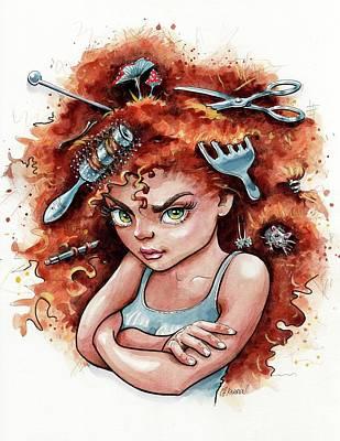 Bad Hair Day Poster by Christine Karron