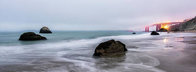 Baker Beach Obscured Poster by Jon Glaser