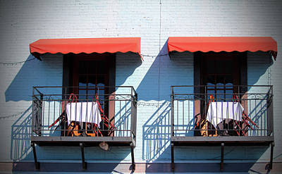 Balconies For Two Poster by Cynthia Guinn