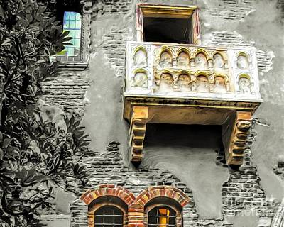 Balcony For Juliet Poster by GabeZ Art