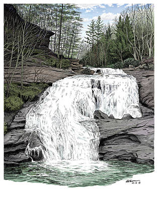 Bald River Falls Poster by Dave Olson