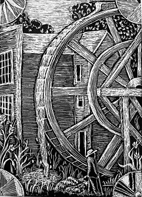 Bale Grist Mill Poster by Valera Ainsworth