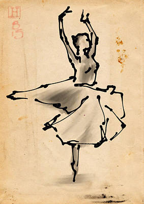 Ballerina 5 Poster by H James Hoff