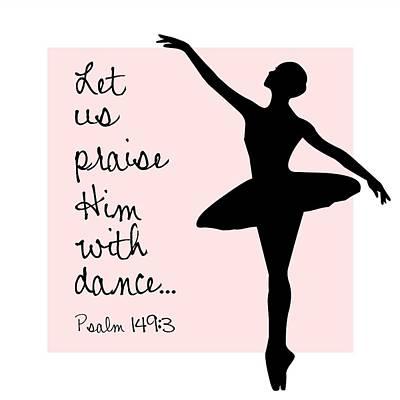 Ballerina Praise Poster by Nancy Ingersoll
