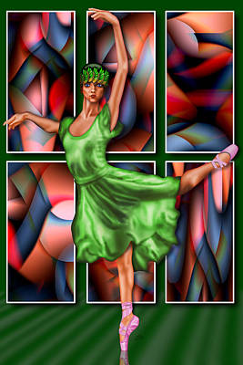 Ballerina Poster by Troy Brown