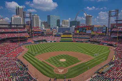Ballpark Village Cardinal Nation Busch Stadum St. Louis Cardinals April 2015 #2 Poster by David Haskett