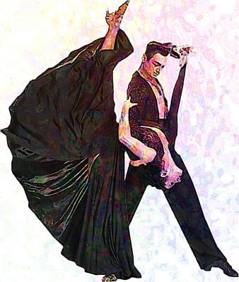 Ballroom Dance Poster by Elena Kosvincheva