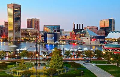 Baltimore From The Hill Poster by Frozen in Time Fine Art Photography