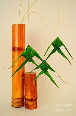 Bamboo And Fish Poster by Mary Deal