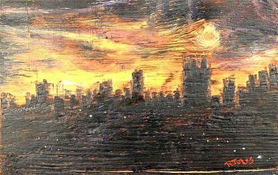 Bangkok City Sunset Glow Poster by Richard Jules