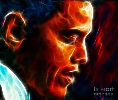 Barack Obama Poster by Pamela Johnson