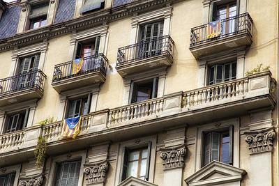 Barcelona Windows Poster by Georgia Fowler