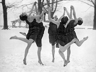Barefoot Dance In The Snow Poster by American School
