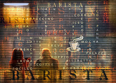 Barista Poster by Mal Bray