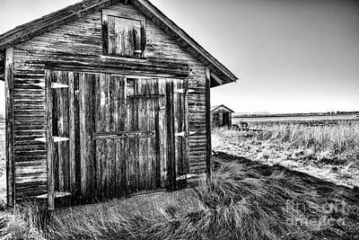 Barn Bnw Poster by Keith Ducker