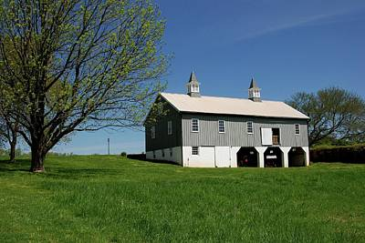 Barn In The Country - Bayonet Farm Poster by Angie Tirado