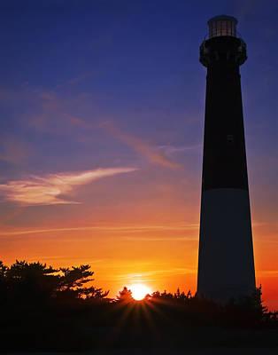 Barnegat Lighthouse Sunset Poster by Susan Candelario