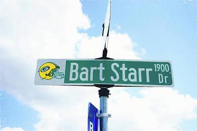 Bart Starr Drive Poster by Scott Pellegrin