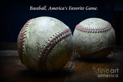 Baseball Americas Favorite Game Poster by Paul Ward