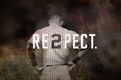 Baseball - Derek Jeter Poster by Joann Vitali