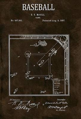 Baseball Game Patent Poster by Dan Sproul