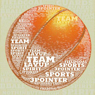 Basketball Poster by Brandi Fitzgerald
