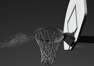 Basketball Court Poster by Richard Rizzo