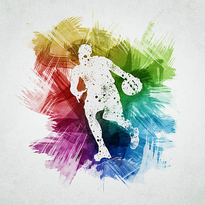 Basketball Player Art 06 Poster by Aged Pixel