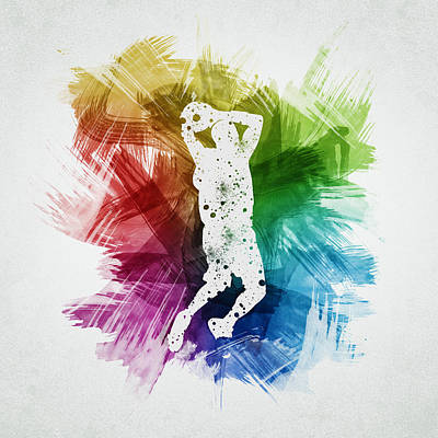 Basketball Player Art 07 Poster by Aged Pixel