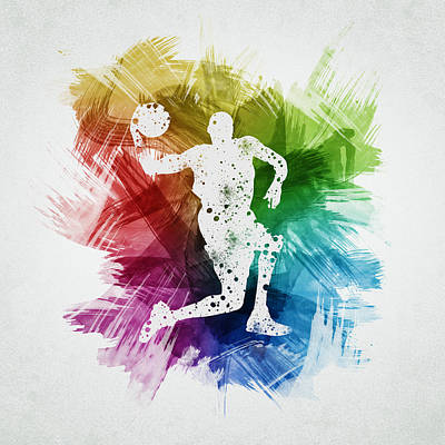 Basketball Player Art 12 Poster by Aged Pixel