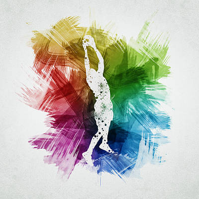 Basketball Player Art 25 Poster by Aged Pixel