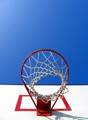 Basketball Scene Poster by Yali Shi