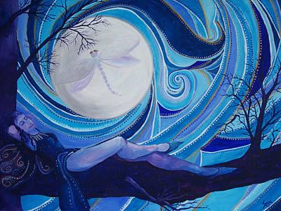 Basking In My Moonlight Poster by Samantha Rochard