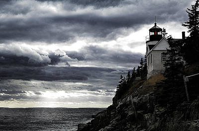 Bass Harbor Lighthouse In Acadia Np Poster by Jeff Folger