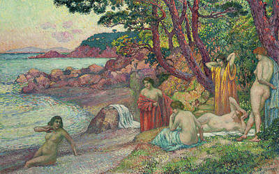 Bathers At Cap Benat, 1909 Poster by Theo van Rysselberghe