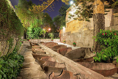 Bathing Area In Santa Catalina Monastery Poster by Jess Kraft